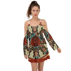 Grateful Dead Pacific Northwest Cover Kimono Sleeves Boho Dress