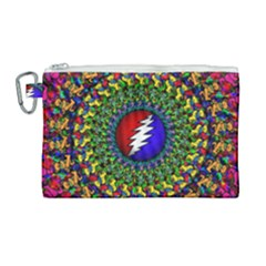 Grateful Dead Canvas Cosmetic Bag (large)