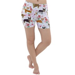 Corgis Corgi Pattern Lightweight Velour Yoga Shorts