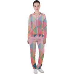 Background Geometric Triangle Casual Jacket And Pants Set by Sapixe