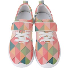 Background Geometric Triangle Men s Velcro Strap Shoes by Sapixe