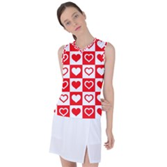 Background Card Checker Chequered Women s Sleeveless Mesh Sports Top