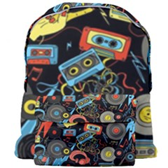 Music Pattern Giant Full Print Backpack by Sapixe