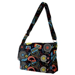 Music Pattern Full Print Messenger Bag (m)