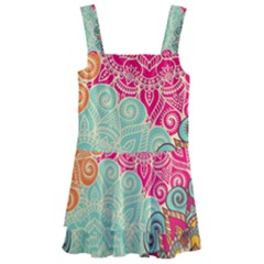 Art Abstract Pattern Kids  Layered Skirt Swimsuit by Sapixe