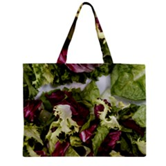 Salad Lettuce Vegetable Zipper Medium Tote Bag by Sapixe