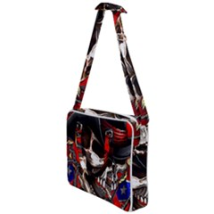 Confederate Flag Usa America United States Csa Civil War Rebel Dixie Military Poster Skull Cross Body Office Bag