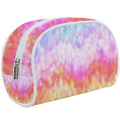 Rainbow Pontilism Background Makeup Case (large)