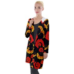 Traditional Russian Floral Khokhloma Hooded Pocket Cardigan by goljakoff