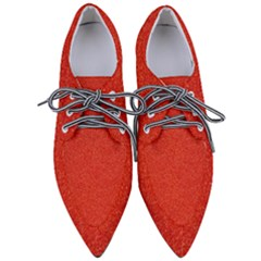 Red Glitter Women s Pointed Oxford Shoes