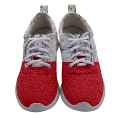 Red Glitter Pattern Women Athletic Shoes