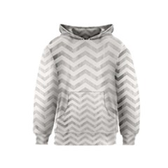 Pewter Cream Chevron Kids  Pullover Hoodie by goljakoff