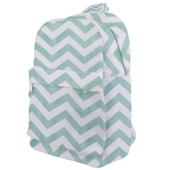White Mint Chevron Classic Backpack by goljakoff