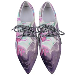 Abstract Marble Women s Pointed Oxford Shoes