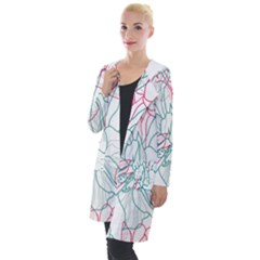 Flowers Hooded Pocket Cardigan