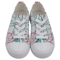 Flowers Kids  Low Top Canvas Sneakers