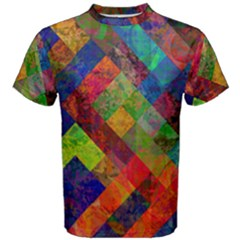 Abstract Colored Grunge Pattern Men s Cotton Tee by fashionpod