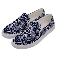 Mandala Pattern Men s Canvas Slip Ons by designsbymallika