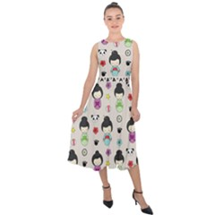 Russian Doll Midi Tie Back Chiffon Dress