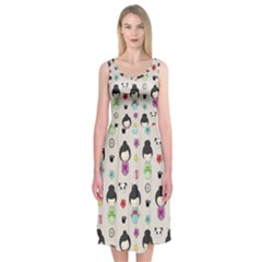 Russian Doll Midi Sleeveless Dress