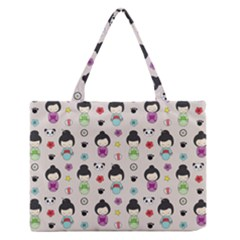 Russian Doll Zipper Medium Tote Bag