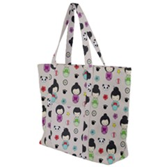 Russian Doll Zip Up Canvas Bag