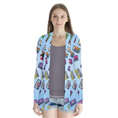 Retro Look Drape Collar Cardigan