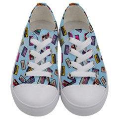 Retro Look Kids  Low Top Canvas Sneakers