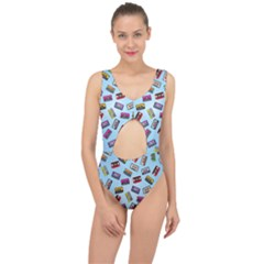 Retro Look Center Cut Out Swimsuit