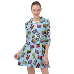 Retro Look Mini Skater Shirt Dress