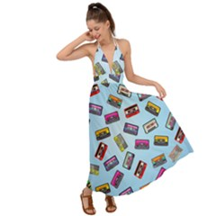 Retro Look Backless Maxi Beach Dress