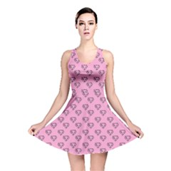 Heart Face Pink Reversible Skater Dress