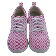 Chevrons Abstrait Rose Women Athletic Shoes by kcreatif