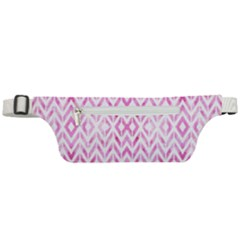 Chevrons Abstrait Rose Active Waist Bag