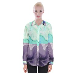 Abstract Marble Pattern Womens Long Sleeve Shirt