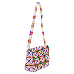 Rainbow Pattern Shoulder Bag With Back Zipper