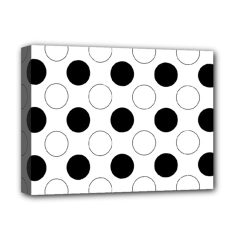 Background Dot Pattern Deluxe Canvas 16  X 12  (stretched)  by HermanTelo