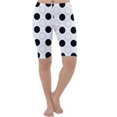 Background Dot Pattern Cropped Leggings