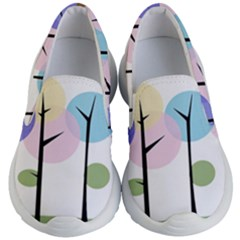 Forest Trees Nature Plants Kids Lightweight Slip Ons