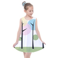 Forest Trees Nature Plants Kids  Summer Dress