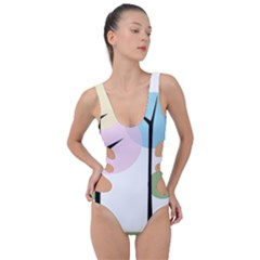 Forest Trees Nature Plants Side Cut Out Swimsuit