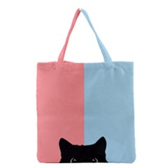 Sneaky Cat Grocery Tote Bag