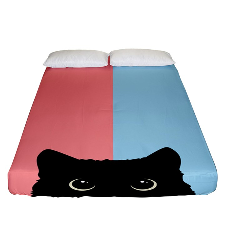 Sneaky cat Fitted Sheet (California King Size)