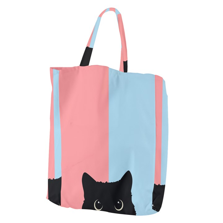 Sneaky cat Giant Grocery Tote