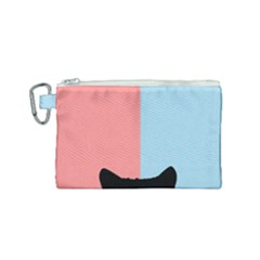 Sneaky Cat Canvas Cosmetic Bag (small)