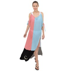 Sneaky Cat Maxi Chiffon Cover Up Dress