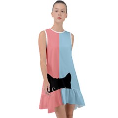 Sneaky Cat Frill Swing Dress