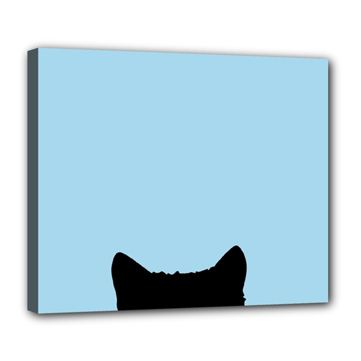 Sneaky kitty Deluxe Canvas 24  x 20  (Stretched)