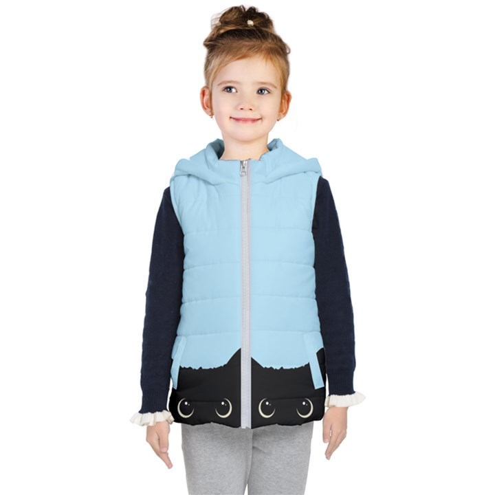 Sneaky kitty Kids  Hooded Puffer Vest
