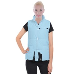 Sneaky Kitty Women s Button Up Vest